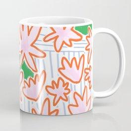 Flowers, lines & green Coffee Mug