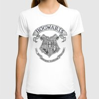 hogwarts T-shirts featuring Hogwarts by Cécile Pellerin