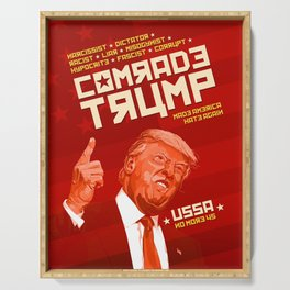 Comrade Trump - Soviet Poster Serving Tray