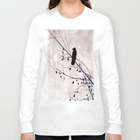 crow Long Sleeve T-shirts featuring Crow by Maite Pons