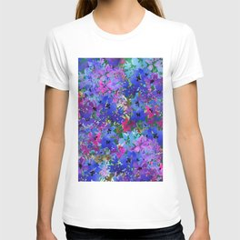 Cool Blue Summer Garden T-shirt