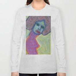 Lady in flanel dress Long Sleeve T-shirt