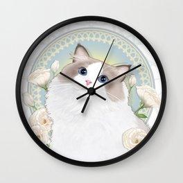 Cat Chabssal Wall Clock