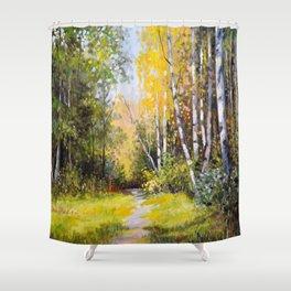 Birch Grove # 3 Shower Curtain