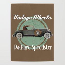 Vintage Wheels - Packard Speedster Poster