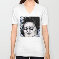 laura palmer V-neck T-shirts featuring Laura Palmer by Drawn by Nina