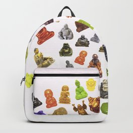 a bunch of buddhas. Backpack