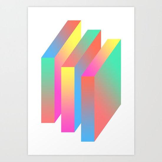 Swear Blocks Art Print