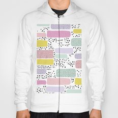 Colorful freckles and strokes memphis rain Hoody