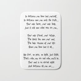 The poem of the night Bath Mat