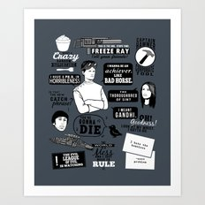 Horrible's Quotes Art Print