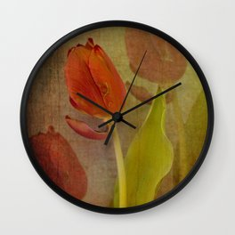 Vintage tulips Wall Clock