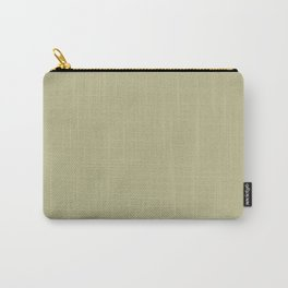 Earthy Mid-Tone Pastel Green Solid Color Inspired by Behr Back to Nature 2020 Color of the Year Carry-All Pouch