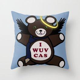 I Wuv Cas Dean Winchester Teddy Bear Throw Pillow