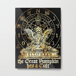 Cult of the Great Pumpkin: Winged Hourglass Metal Print