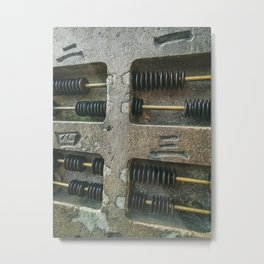 Ancient Abacus Metal Print