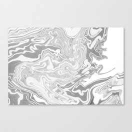 Gray Marble paper Canvas Print