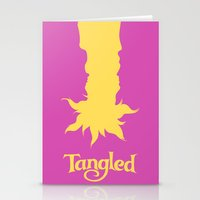 tangled Stationery Cards featuring Tangled by Citron Vert