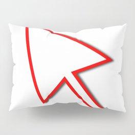 Cursor Arrow Mouse Red Line Pillow Sham