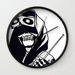 Eyes of the reaper Wall Clock