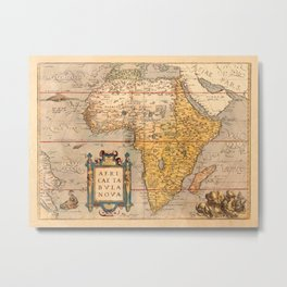 Map Of Africa 1572 Metal Print