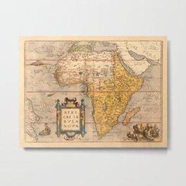 Map Of Africa 1572 Metal Print