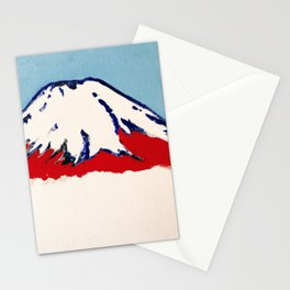 Red Mt. Fuji Stationery Cards
