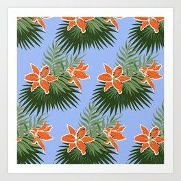 Orange Tropical Art Print