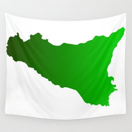 sicilian map Wall Tapestry