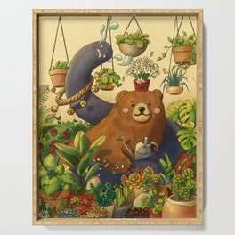 Garden Bear Serving Tray