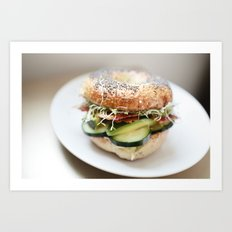 Bagel Sandwich Art Print