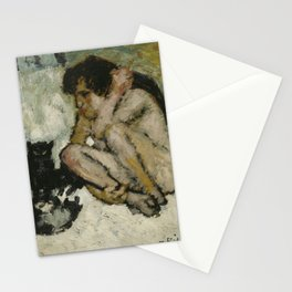 CRAZY WOMAN WITH CATS - PABLO PICASSO  Stationery Cards