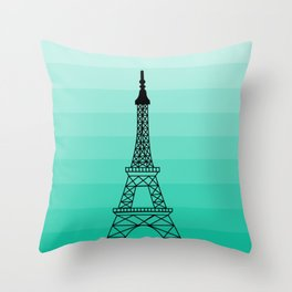 Eiffel tower drawing Throw Pillow