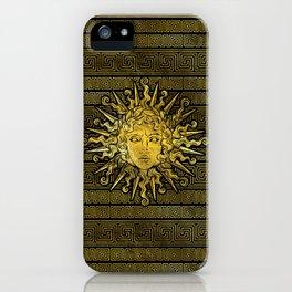 Apollo Sun Symbol on Greek Key Pattern iPhone Case