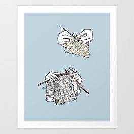 stitch after stitch Art Print