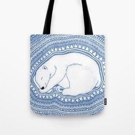Polar bear, floe, pattern Tote Bag