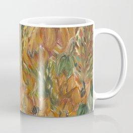Floral orange print Coffee Mug