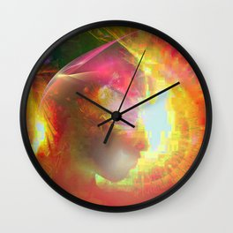 """"""" Thought is positive """"  Wall Clock"""