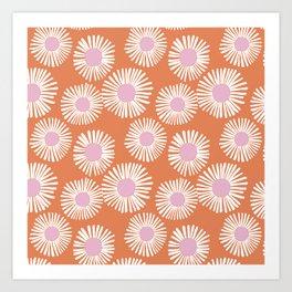 Terracotta Daisy Art Print