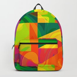 Funky geometric pattern Backpack