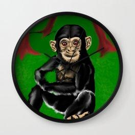 chimp baby Wall Clock