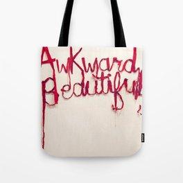 Awkward Beautiful, Silk Graffiti by Aubrie Costello Tote Bag