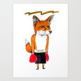 Boxy Foxy Art Print