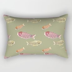 Koi Orange Rectangular Pillow