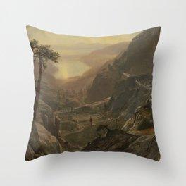 Albert Bierstadt - View of Donner Lake, California (1872) Throw Pillow