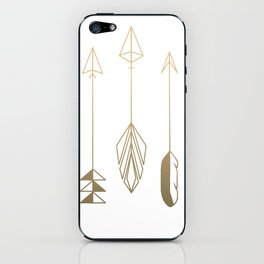 Be Brave Little Arrow (gold) iPhone Skin