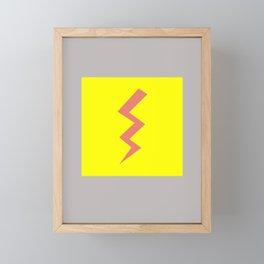 Pink Lightning Framed Mini Art Print