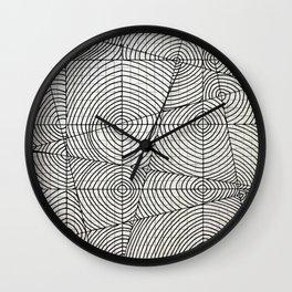 Line Circles Wall Clock