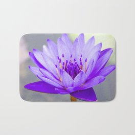 Blue Lotus In Bloom Bath Mat