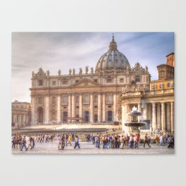 The Papal Basilica of the Saint Peter in the Vatican, Rome Canvas Print